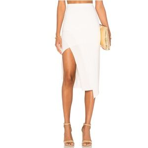 Lovers and friends Bridgette midi ivory skirt